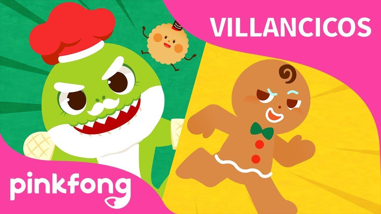 Baby Shark vs Gingerbread Man Villancicos de Navidad