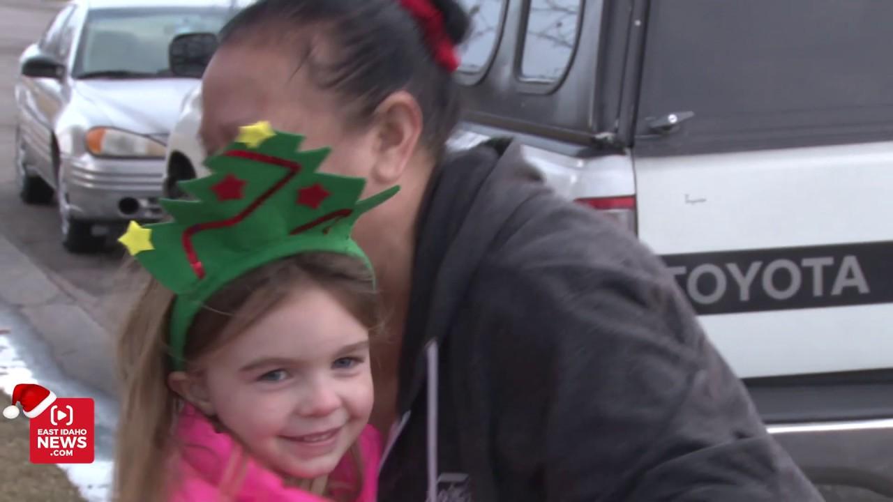 Tears run down speechless woman's cheeks as she learns Secret Santa is  giving her a car