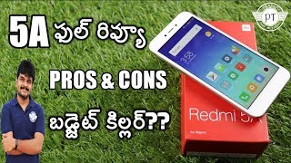 Redmi 5A Review with pros  cons ll in telugu ll