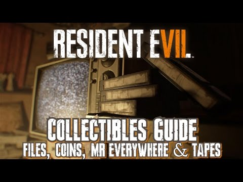 Resident Evil 7 - Collectibles Guide (100%) - Files, Coins, Mr Everywhere & Tapes for Easy/Normal
