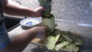 видео Как почистить ананас в домашних условиях ножом: 5 крутых способов