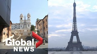Coronavirus outbreak: European landmarks stand empty amid COVID-19 lockdowns