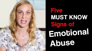 5 SIGNS of EMOTIONAL ABUSE - Mental Health Help with Kati Morton
