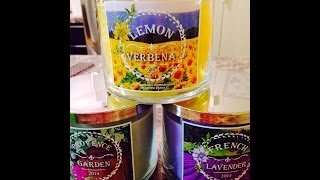 Bath & Body Works 'provence' Test Collection Candles: Lavender, Lemon Verbena, & Provence Garden