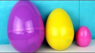 3 Giant Surprise Eggs with Kinder Surprise Eggs| HUEVOS KINDER SORPRESA