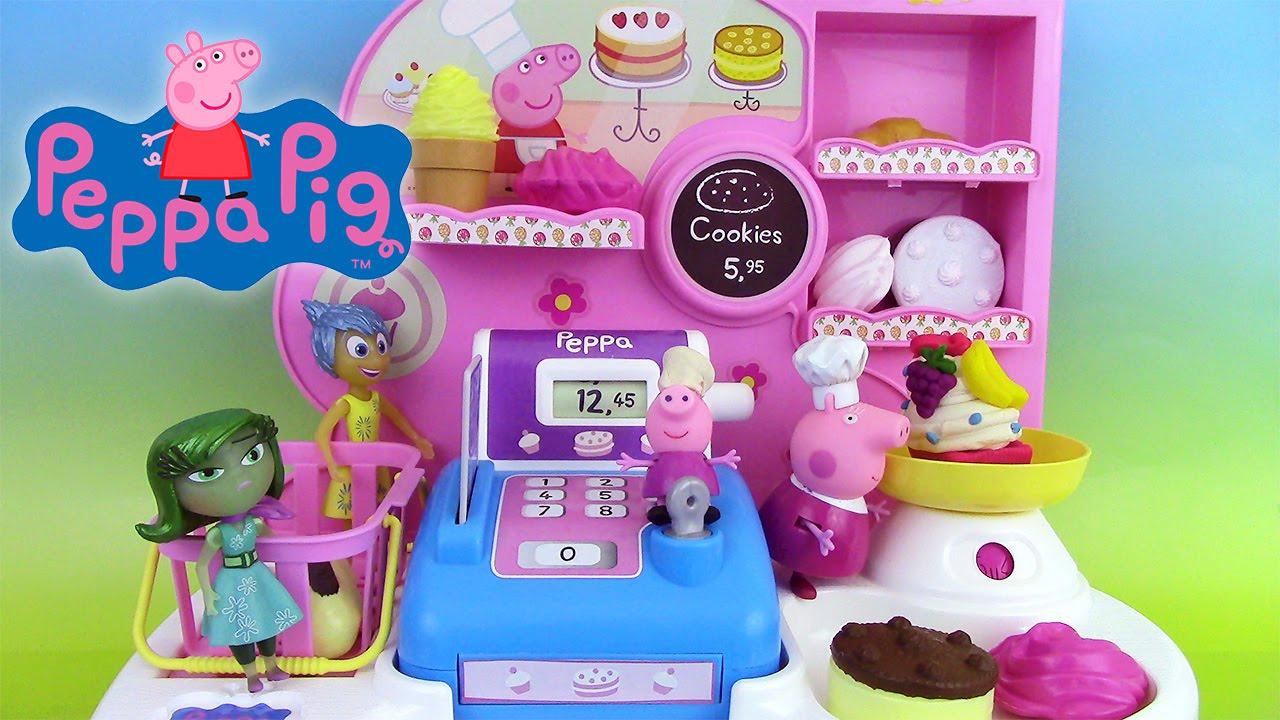 peppa pig bakery shop p tisserie jouet play doh. Black Bedroom Furniture Sets. Home Design Ideas