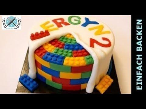 Lego Torte selber machen  Lego Motivtorte I Einfach