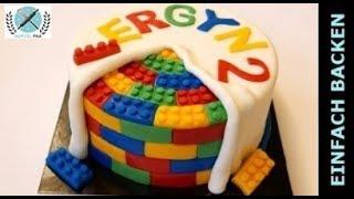 Lego Torte selber machen   Lego Motivtorte I Einfach Backen - Marcel Paa