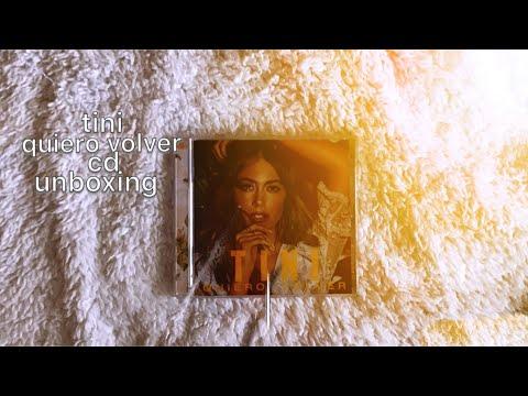 TINI QUIERO VOLVER CD UNBOXING
