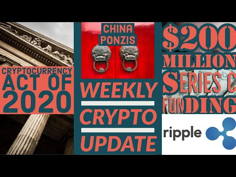 Ripple Raises 200 Mil 💰 Cryptocurrency Act of 2020 🏦 Big ETH Dump Imminent?!
