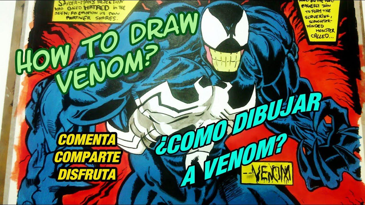 Como Dibujar A Venom Estilo Comic Tutorial Paso A Paso Facil Marvel