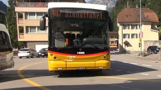Mit dem Postauto durch die Alpen - Bristenstrasse Teil 1 der Busfahrt