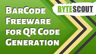 Bytescout BarCode Freeware for QR Code generation
