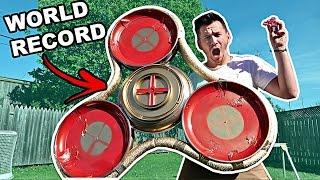 DIY WORLD'S LARGEST FIDGET SPINNER!! ($1,000 ULTIMATE FIDGET SPINNER)