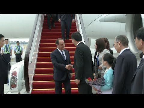 French President Arrives in Hangzhou for G20 Summit