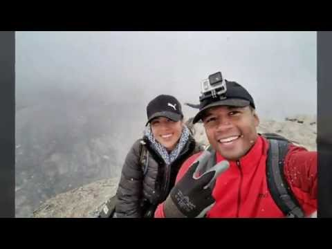 Half Dome Ascent and Descent in Snow