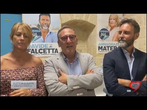 ANDRIA: ANTONIO SCAMARCIO, ANNAGRAZIA MATERA E DAVIDE FALCETTA