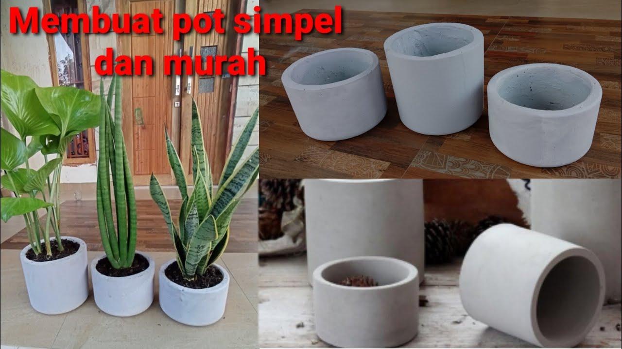 Diy Pot Bunga Minimalis Dari Semen Tanaman Hias Cara Membuat Pot Bunga Simpel Dan Murah Youtube Cara membuat pot bunga minimalis