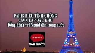 PARIS BIỂU TÌNH ĐỒNG HÀNH VỚI NGƯỜI DÂN TRONG NƯỚC CHỐNG CSVN LẬP ĐẶC KHU