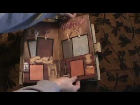 Harry Potter Themed Scrapbook Mini Album Youtube