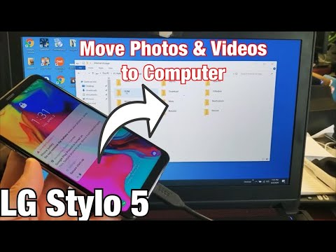 LG Stylo 5: How To Transfer Photos & Videos To Computer (Laptop Or PC)