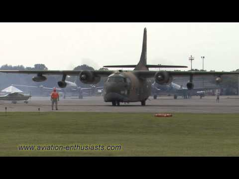 2014 Gathering of Eagles XVIII Air Show C-123 Provider departure (Sunday)