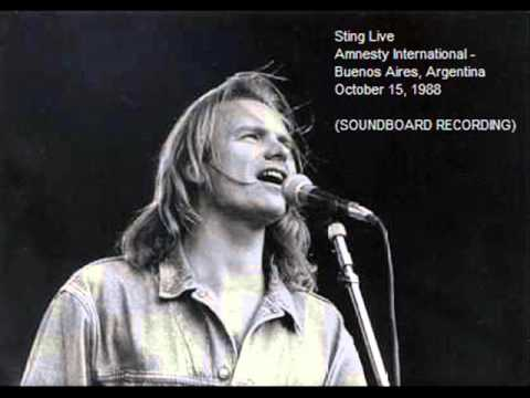 "STING - Buenos Aires 15-10-88 ""Amnesty International"" Argentina (SOUNDBOARD RECORDING)"