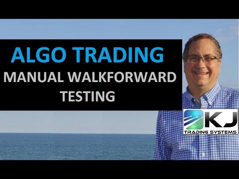 Algo Trading Manual Walkforward Example