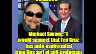 "HUH?!? ... Michael Savage says Ted Cruz has been engaging in ""auto-eroticism"" (yes, figuratively)"