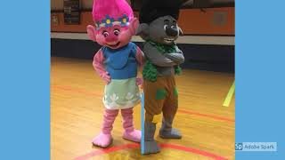 Trolls Birthday Party Character Entertainer Rentals | Hire Poppy Branch Mascot Costumes Adult Sizes