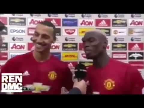Ibrahimovic and pogba FUNNIEST VOICE OVER EVER!
