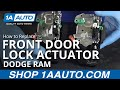How to Install Replace Door Lock Actuator Front Driver Side 02-08 Dodge Ram BUY PARTS AT 1AAUTO.COM