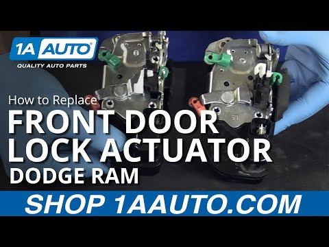 How to Replace Front Door Lock Actuator 03-08 Dodge Ram