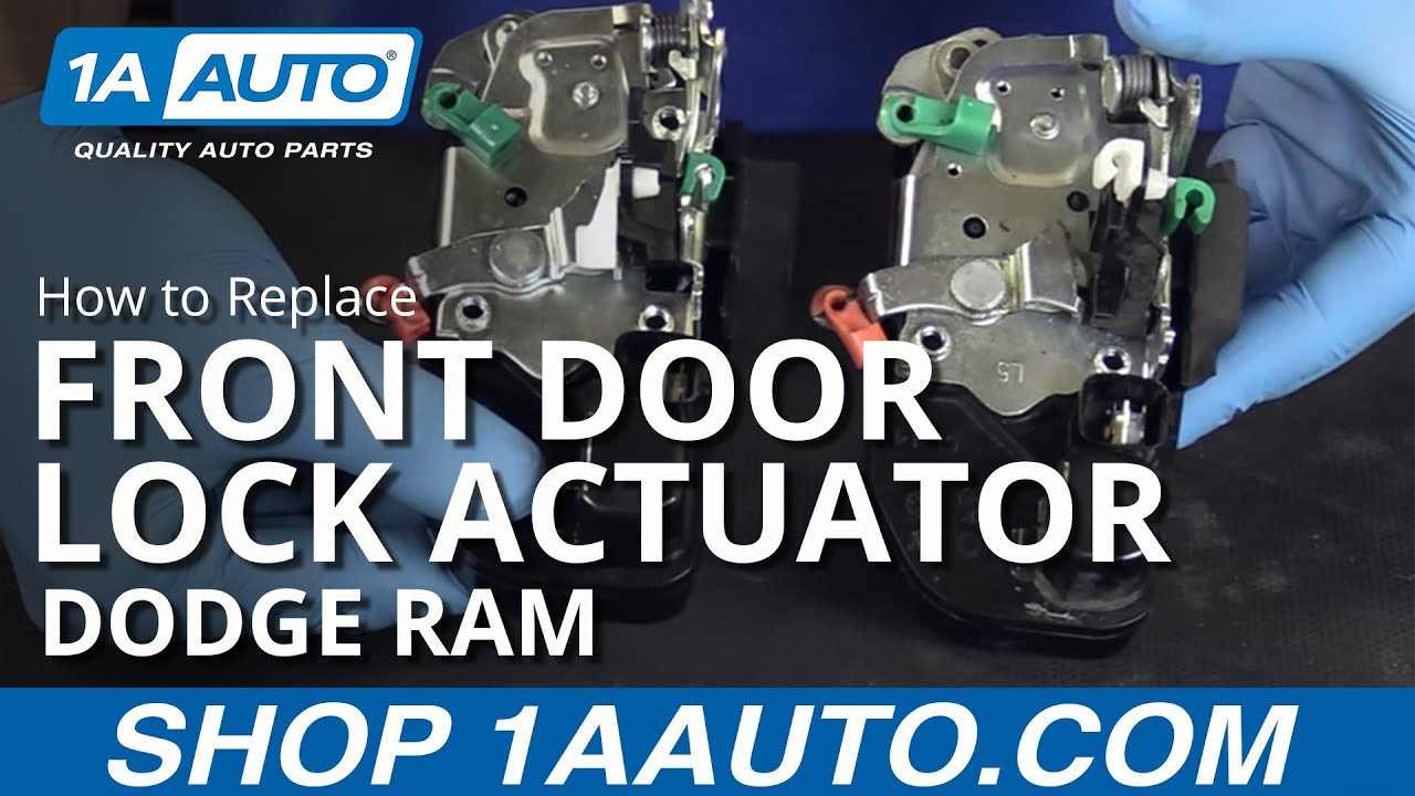 How to Install Replace Door Lock Actuator Front Driver Side 02-08 ...