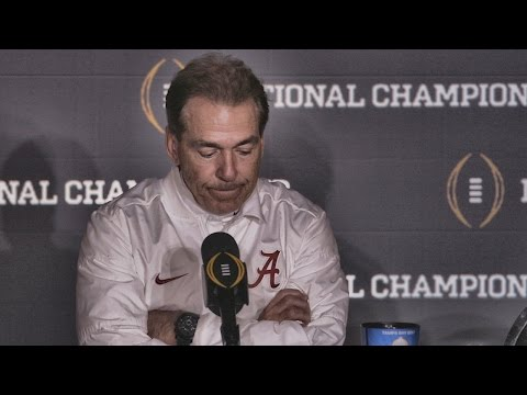 Hear what Nick Saban said after Alabama