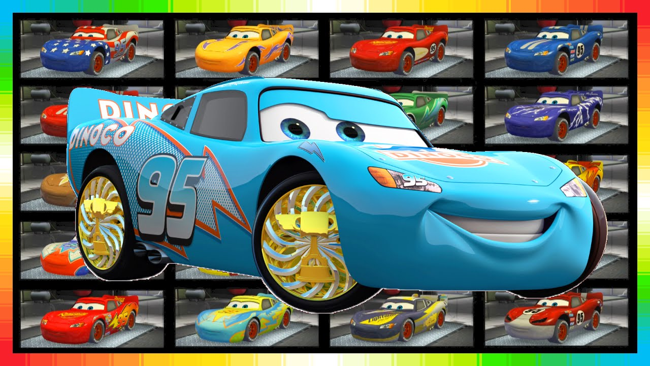 The Cars Choose 20 Different Lightning Mcqueen Cars Look Too