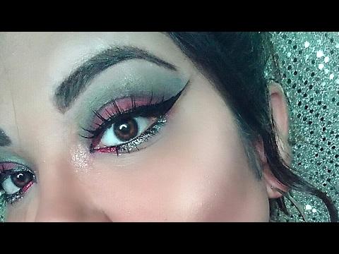 mexican flag eye makeup  makeupviewco