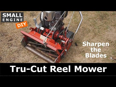 Sharpen Tru Cut Reel Mower Blades Blade Lapping Youtube