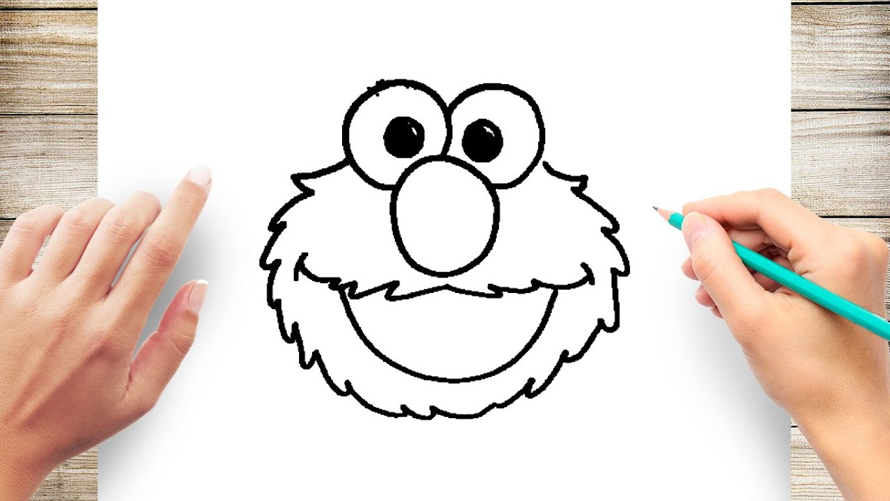 how to draw elmo step by step for kids