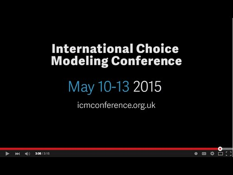 2015 International Choice Modeling Conference - Austin, Texas