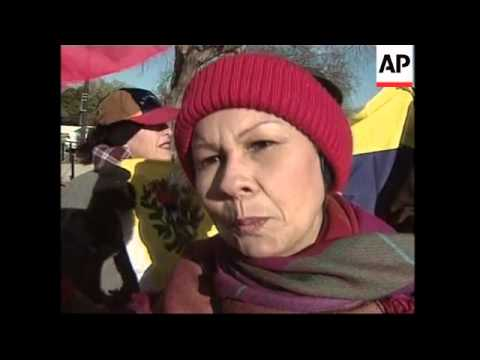 Anti-Chavez protesters demand he resign