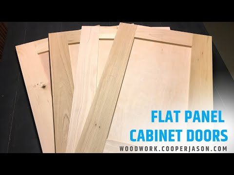How To Build Flat Panel Cabinet Doors On Your Table Saw | DIY Woodworking