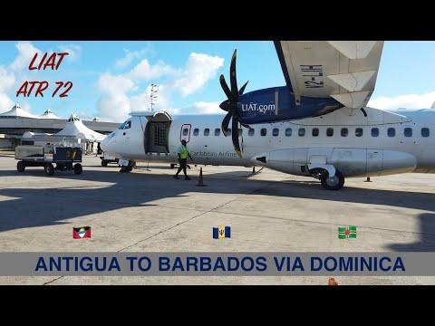 LIAT (LEEWARD ISLANDS AIR TRANSPORT SERVICES) | ANTIGUA TO BARBADOS VIA DOMINICA | ATR | TRIP REPORT