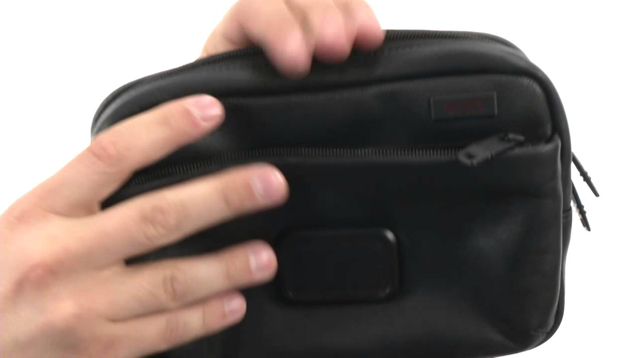 Tumi Alpha 2 - Slim Leather Travel Kit SKU  8434556 - YouTube 814d48dab43c3