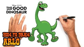 How to Draw Arlo | The Good Dinosaur