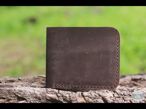 Кожаный кошелек ручной работы part II - YouTube