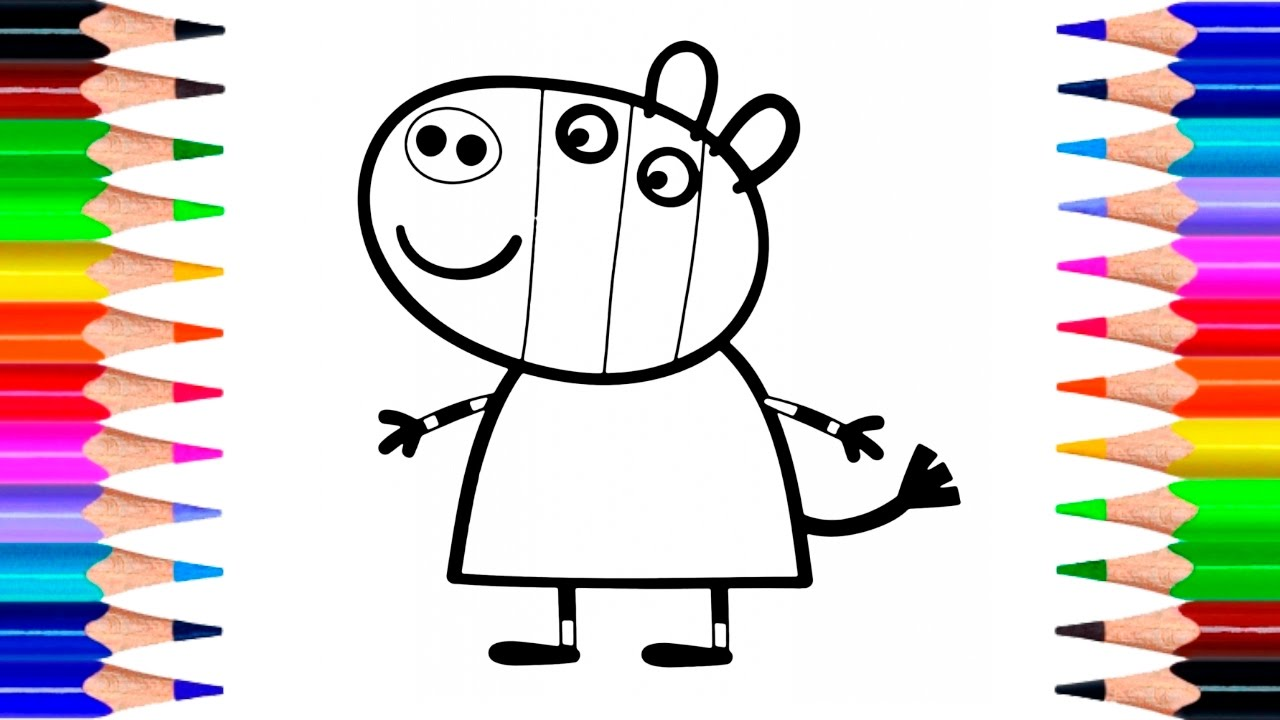 Peppa Pig Zoe Zebra Coloring Pages | How to Draw Peppa Pig Zoe Zebra ...