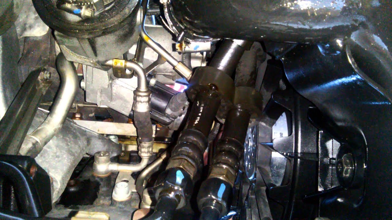 Audi A4 B7 2 0 Transmission Cooler Line Leak Youtube