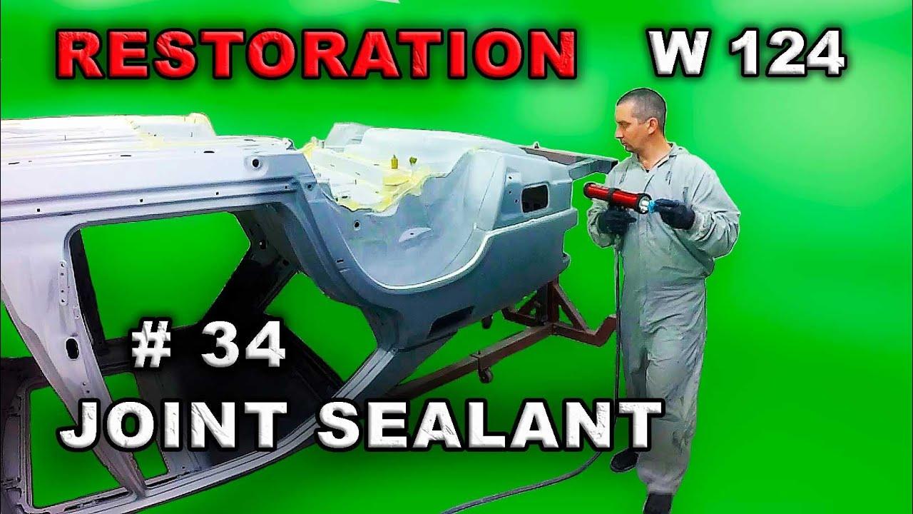 Реставрация Mercedes-Benz (#34) Герметик шовный. Restoration car