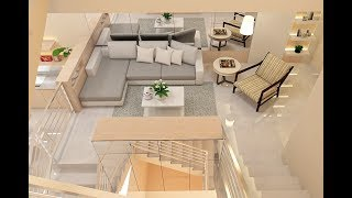 Sketchup Living ,Dining & Pantry Build + Vray Render